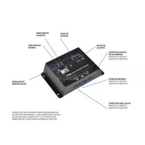 Regulador de voltaje solar universal 40a 12/24/48v